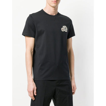 MONCLER Crew Neck Crew Neck Plain Cotton Short Sleeves Crew Neck T-Shirts 5