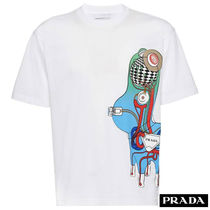 PRADA Cotton Short Sleeves T-Shirts