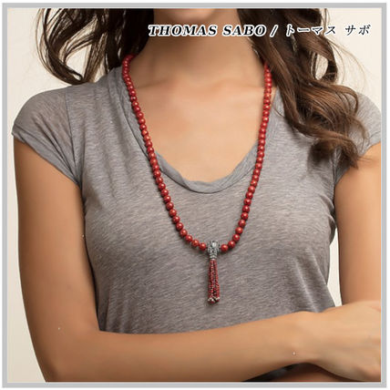 Unisex Tassel Street Style Silver Necklaces & Chokers