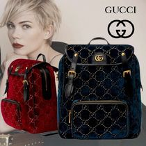 GUCCI Casual Style Unisex Street Style Handmade Backpacks
