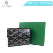 GOYARD Monogram Unisex PVC Clothing Folding Wallet Coin Cases
