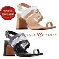 Katy Perry Open Toe Casual Style Street Style Bi-color Chunky Heels