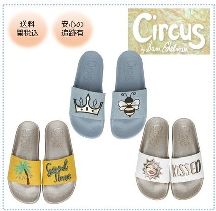 Open Toe Rubber Sole Casual Style Unisex Blended Fabrics