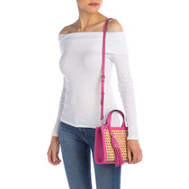 Vince Camuto Casual Style Tassel 2WAY Plain Leather Crossbody