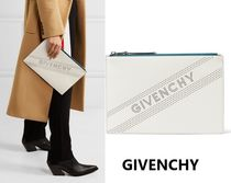 GIVENCHY Street Style Plain Leather Clutches