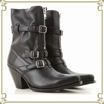 CELINE Leather Elegant Style Ankle & Booties Boots
