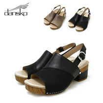 DANSKO Plain Leather Sandals
