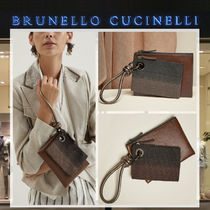 BRUNELLO CUCINELLI Casual Style Plain Leather Clutches