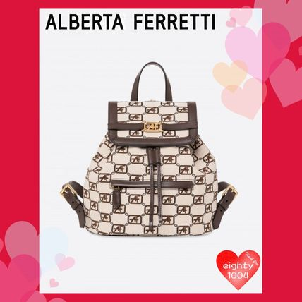 Other Check Patterns Casual Style Street Style Backpacks