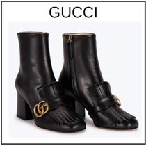 GUCCI Plain Leather Block Heels Home Party Ideas Elegant Style