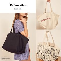 REFORMATION Casual Style Unisex Canvas A4 Totes