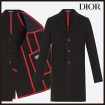 Christian Dior Wool Plain Long Chester Coats