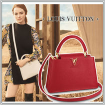 Louis Vuitton CAPUCINES Leather Elegant Style Handbags