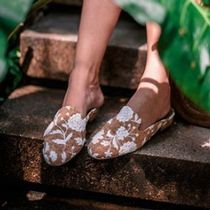 NAE Vegan Shoes Flower Patterns Casual Style Blended Fabrics Shoes