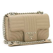 PRADA DIAGRAMME Chain Plain Leather Party Style Shoulder Bags
