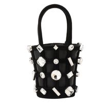 Alexander Wang Studded Leather Purses With Jewels Straw Bags