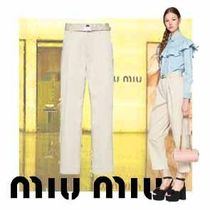 MiuMiu Plain Cotton Long Home Party Ideas Office Style