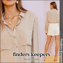 Finders Keepers Long Sleeves Plain Cotton Medium Shirts & Blouses