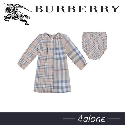 Burberry 2019-20AW Street Style Baby Girl Dresses & Rompers
