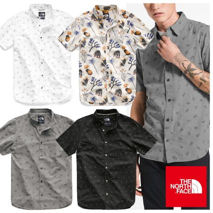 THE NORTH FACE Shirts Tropical Patterns Other Animal Patterns Cotton Short Sleeves