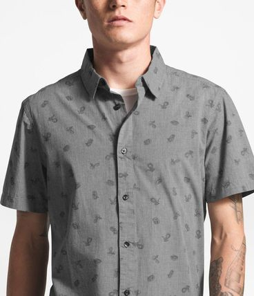 THE NORTH FACE Shirts Tropical Patterns Other Animal Patterns Cotton Short Sleeves 11