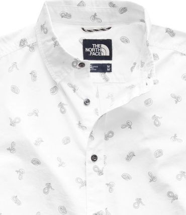 THE NORTH FACE Shirts Tropical Patterns Other Animal Patterns Cotton Short Sleeves 15