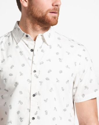 THE NORTH FACE Shirts Tropical Patterns Other Animal Patterns Cotton Short Sleeves 18