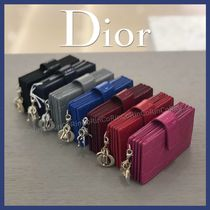 Christian Dior LADY DIOR Plain Card Holders