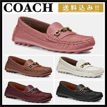 Coach Casual Style Chain Leather Bold Flats