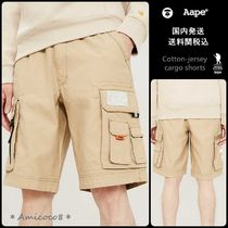 A BATHING APE Sweat Street Style Plain Cargo Shorts