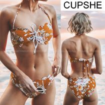 CUPSHE Flower Patterns Tropical Patterns Bikinis