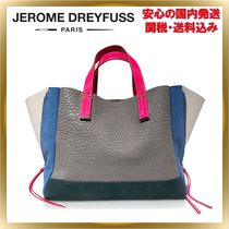 Jerome Dreyfuss A4 Plain Leather Elegant Style Totes