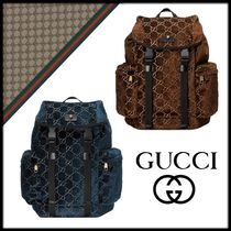 GUCCI Street Style Backpacks