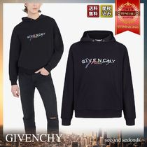 GIVENCHY Crew Neck Pullovers Unisex Street Style Long Sleeves Plain