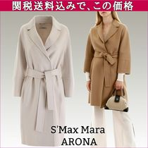 MaxMara Wool Plain Medium Elegant Style Coats