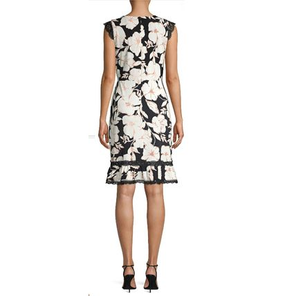 Flower Patterns Casual Style Sleeveless Office Style