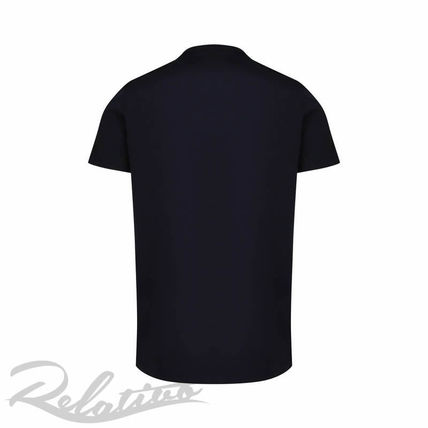 MONCLER Crew Neck Crew Neck Street Style Cotton Short Sleeves 2
