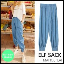 ELF SACK Casual Style Street Style Plain Cotton Long