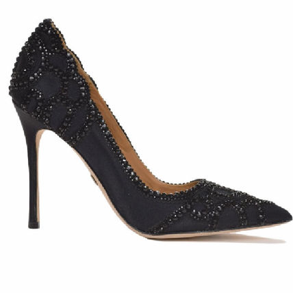 Badgley Mischka Party Style With Jewels High Heel Pumps & Mules
