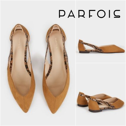 Rubber Sole Python Elegant Style Pointed Toe Pumps & Mules