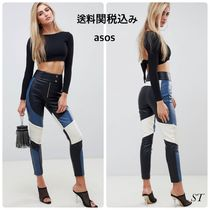 ASOS Casual Style Faux Fur Blended Fabrics Street Style Bi-color