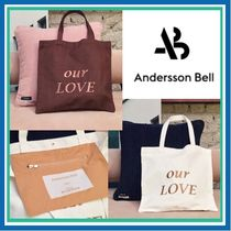 ANDERSSON BELL Unisex Street Style Plain Shoppers
