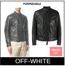 Off-White Street Style Leather Biker Jackets