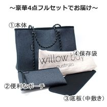 willow bay Casual Style Unisex A4 Plain Totes