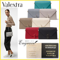 Valextra Iside 3WAY Plain Leather Shoulder Bags