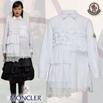 MONCLER Lace-up Long Sleeves Plain Cotton Long With Jewels