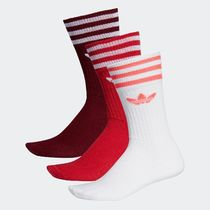 adidas Unisex Street Style Plain Cotton Undershirts & Socks