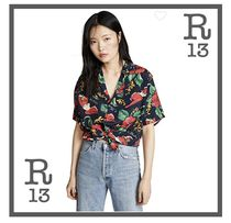 R13 Casual Style Short Sleeves Shirts & Blouses