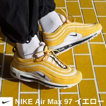 Nike AIR MAX 97 Round Toe Lace-up Casual Style Street Style Plain