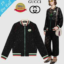 GUCCI Short Flower Patterns Souvenir Jackets